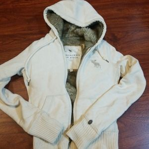 Abercrombie and Fitch Fur lined Hoodie Sweatshirt